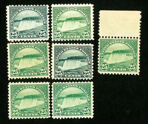 US-Stamps-568-F-VF-Lot-of-7-OG-NH-Catalog-Value-210-00