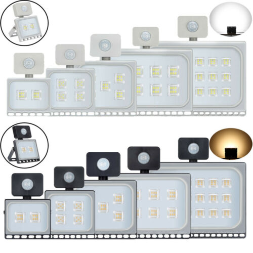 10W 500W LED Floodlight with PIR Motion Sensor Security Outdoor Landscape Lamp