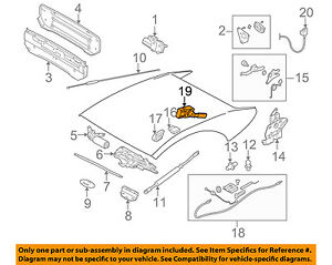 bmw oem 06 10 650i convertible top sensor 54348267936 ebay rh ebay com 1969 Torino Convertible Top Switch 1994 bmw 325i convertible top wiring diagram