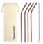 thumbnail 4 - Bent 4 Pack Stainless Steel Metal Straws Gift Set Reusable [Choose your Colour]