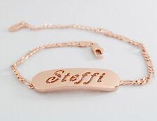 Steffi-Bracciale con nome-placcato oro rosa 18ct-Regalo Per Lei-Fashion