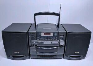 Aiwa-CA-D210-Stereo-Boombox-CD-Cassette-Player-AM-FM-Detachable-Speakers-parts