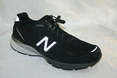 New Balance 990v4 Men/'s Running Stability Shoes Black-Silver Made in USA M990bk4
