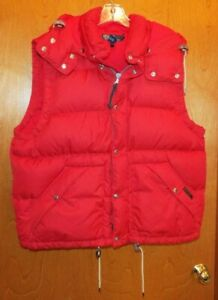 WOMEN'S POLO BY RALPH LAUREN RED PUFFER VEST W/ REMOVABLE ...