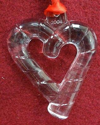 "No Box 3-1//4/"" ORREFORS crystal 2004 SWEET HEART Christmas Ornament"