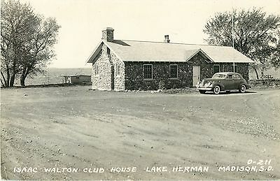 a view of the isaac walton club house lake herman madison sd rppc ebay ebay