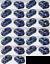 Renault-Twingo-Bandes-Gordini-Capot-Hayon-Toit-Couleur-au-choix miniatura 2
