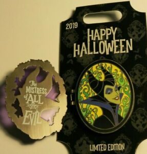 MISTRESS OF ALL EVIL MALEFICENT Happy Halloween 2019 Pin Disney hinged LE4000
