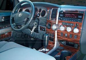 Toyota Tundra Quad Cab Crew Max Interior Wood Dash Trim Kit 2007