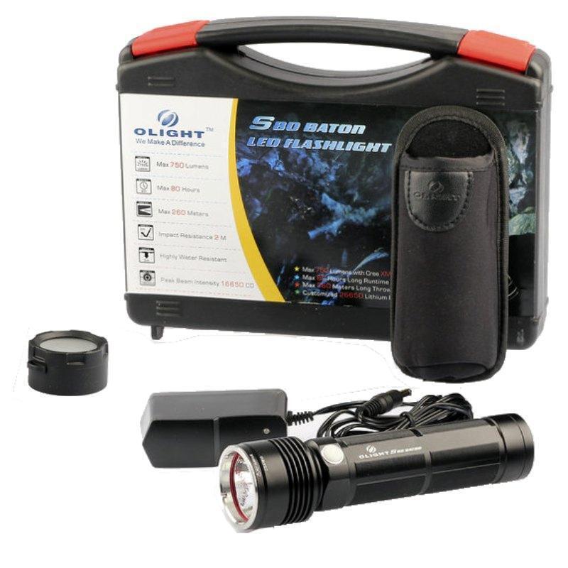 New Olight S80 Baton Cree XM-L LED 750 Lumen Rechargeable LED Flashlight   Torch