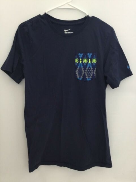 The Nike Tee Athletic Short Sleeves Blue T-Shirt Size S (PRE-OWNED)
