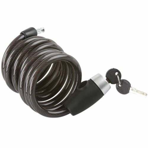 6/' Self Coiling Bicycle Cable Locks for Small Equipment /& Cargo