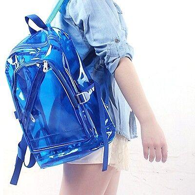 Transparent Clear Plastic Waterproof Backpack for Teenage Girls PVC School Bags