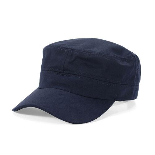 Uomo Classico da Donna Regolabile Militare Tinta Unita Cappello Cadetto Baseball