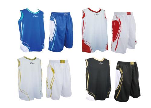 Swish Basketball Hommes Sport Athletic Haut Jersey Shorts Pantalon Costume Avec Poches