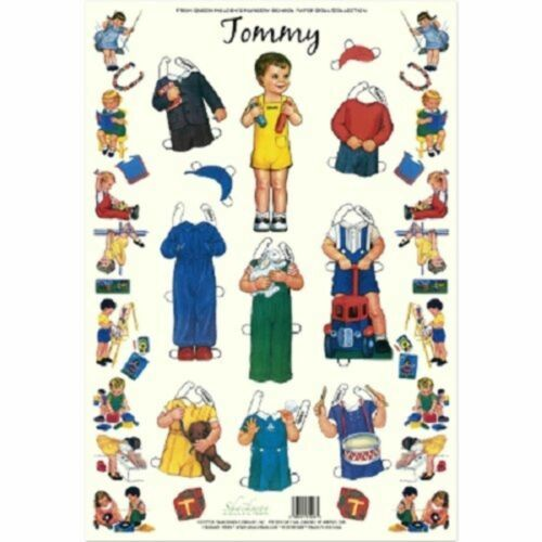 Shackman Tommy Queen Holden'S Nursery School Paper Doll & Clothes Set #Shk-30
