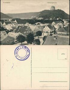 Ansichtskarte-Kelheim-Stadtpartie-Befreiungshalle-1922