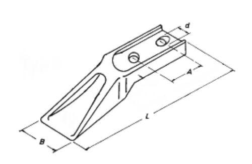 6 x Baggerzahn Anschraubzahn Flachzahn Schaufelzahn Lochabstand 40-45 mm Bagger