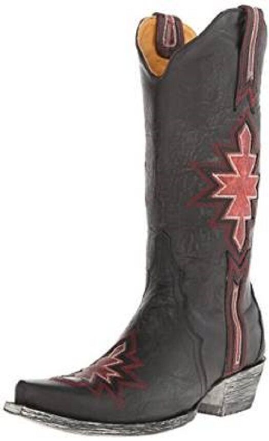 New in Box Old Gringo Women's Quanah Black Pink Boots Size 7.5 Retail   520