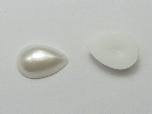 500 Pure White Teardrop Half Pearl Cabachons Gem Bead 6X8mm Scrapbook Craft