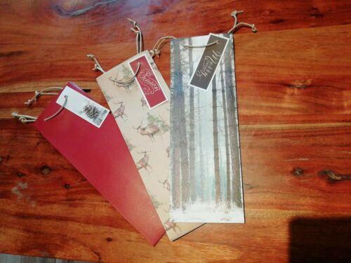 M/&S Marks/&Spencer Xmas spirit wine bottle paper gift bag Christmas festive