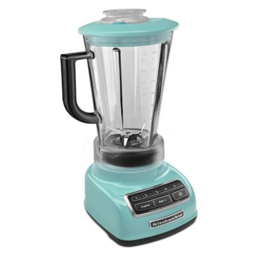 KitchenAid dieCast 5-Speed Blender KSB1575AQ Diamond Vortex Blade Aqua Sky Blue
