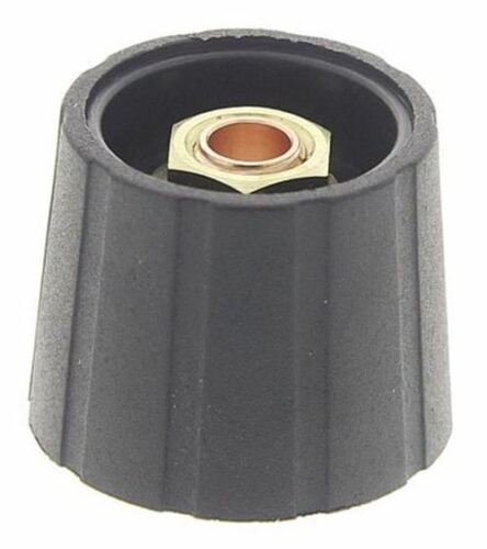 Collet Type Sifam Potentiometer Knob Black For 21mm Knob Diameter 6mm Shaft