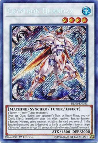 BLRR-EN083-1st Edition NM - Secret Rare Yu-Gi-Oh CRYSTRON QUANDAX