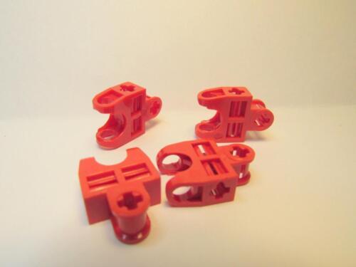 Technic Eixo Conector 2 X 3 W Bola Soquete aberto 32174 Vermelho 4 Peças De Lego ~
