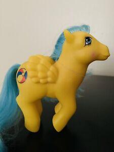Vintage 80s My Little Pony G1 Bouncy De-Flocked Blue Beach Ball