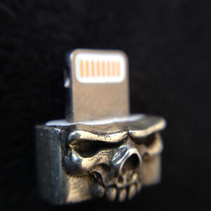 Mobile-Phone-925-Silver-Skull-Dustproof-Plug-Original-Fit-For-iphone6-7-8-X