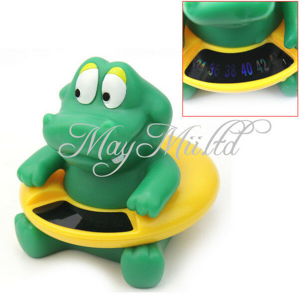 Cute Crocodile Baby Infant Bath Tub Thermometer Water Temperature Tester Toy JC
