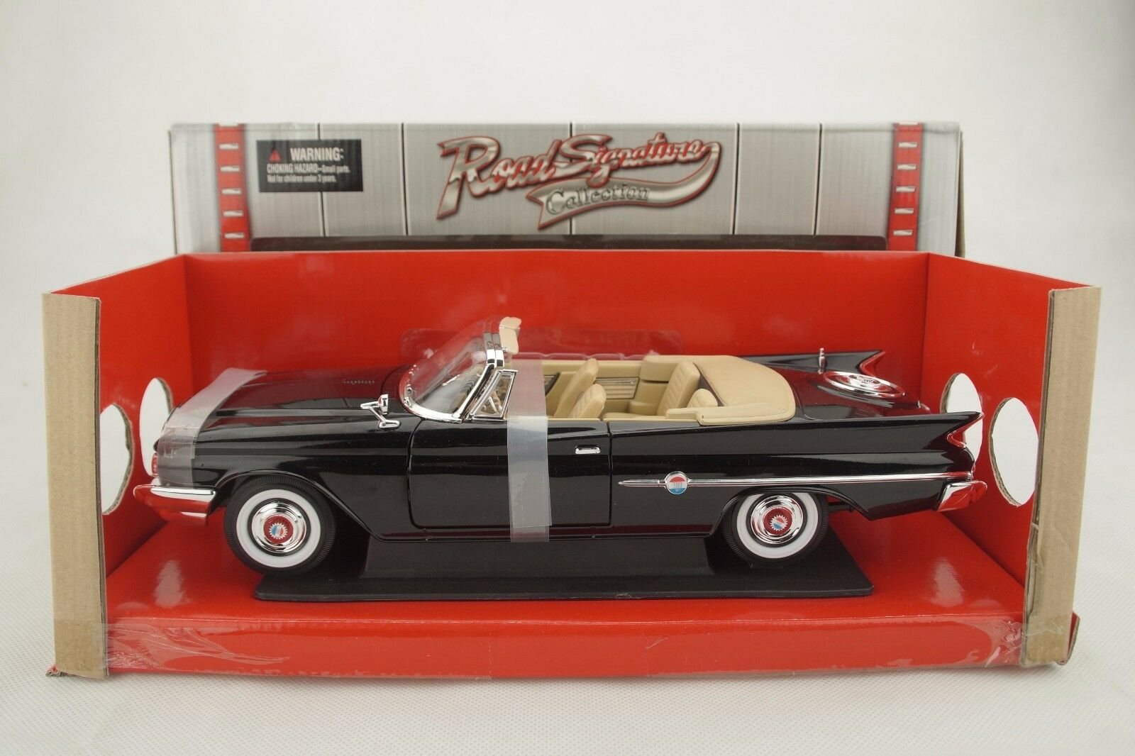 1 18 Road Signature - 1960 Chrysler 300f Negro Negro - Rareza - Neu Ovp