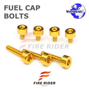 FRW-Gold-Fuel-Cap-Bolts-Set-For-Honda-VFR800-VTEC-02-09-02-03-04-05-06-07-08