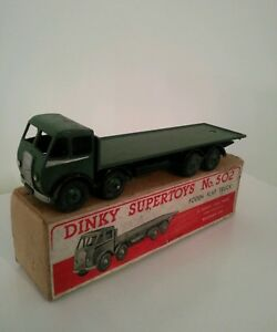Dinky-Supertoys-1st-type-502-Foden-Flat-Truck-with-Original-Box