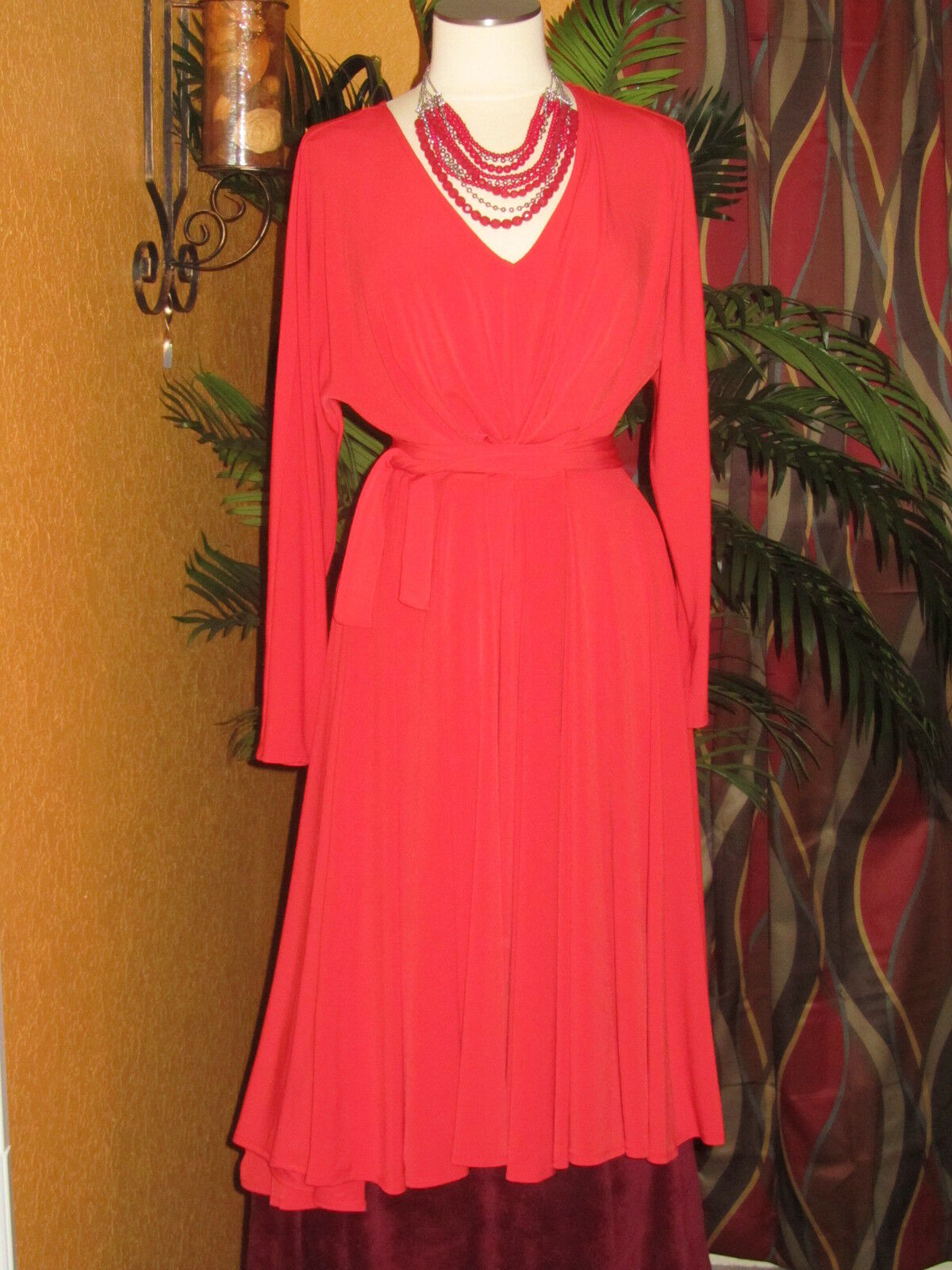 LANE BRYANT ISABEL TOLEDO NWT 14 16  EASY V red women's dress  A-line