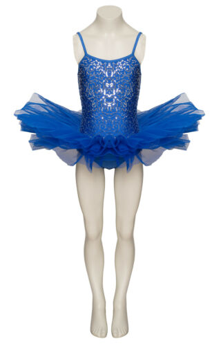 Royal Blue Sparkly Tutu With Silver Sequins Dance Ballet Costume Tutu By Katz