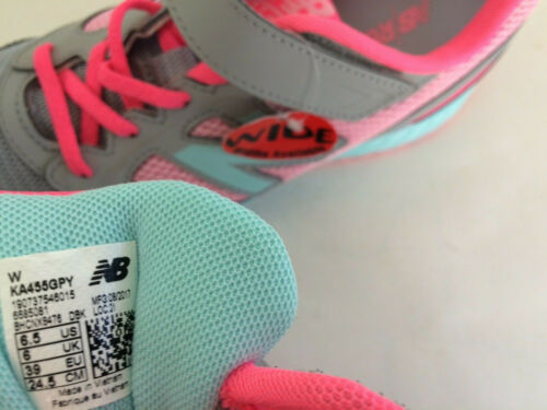 New New Balance Youth 6M 6.5W 455 Lace Up Sneakers KA455GPY Shoes Grey Pink Teal