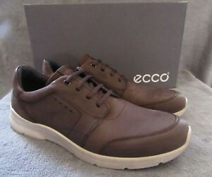 3502440447b Image is loading ECCO-Irondale-Lace-Coffee-Nubuck-Leather-Sneaker-Shoes-