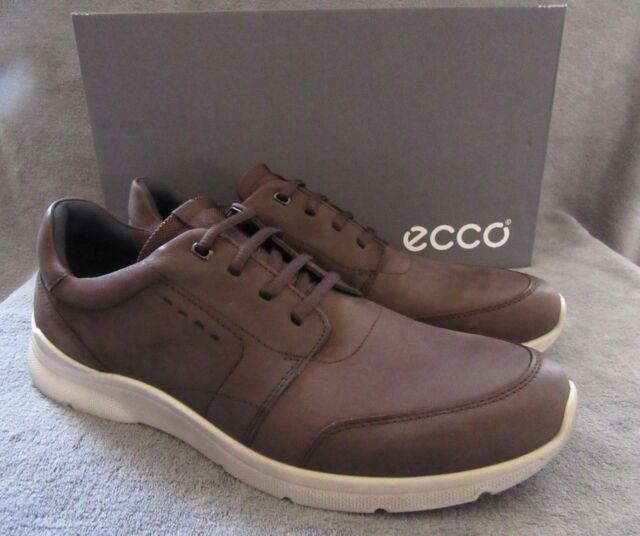 Wie findet man Großhandel bester Preis ECCO Irondale Lace Coffee Nubuck Leather Sneaker Shoes US 10 - 10.5 M EUR  44 NWB