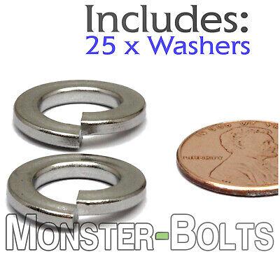 M8 Metric Split Steel Lock Washer Black Oxide Qty 20