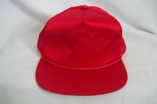 Vintage Red Satin Snapback Hat Cap Snap Back
