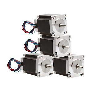4-pcs-Nema-23-stepper-motor-270-oz-in-1-9NM-single-shaft-3A-CNC