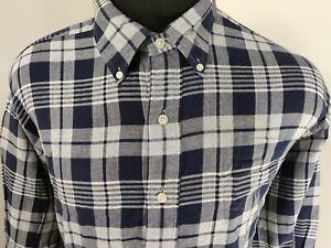 Ralph-Lauren-Mens-Tilden-Long-Sleeve-Button-Down-Shirt-Size-XL-Plaid-Blue