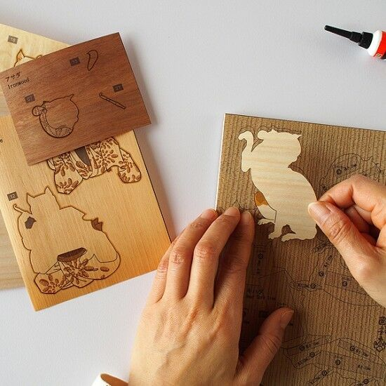 Japanese Japanese Japanese Wood Collage 3D-Art Handmade Kit Utagawa Kuniyoshi Part2 Ukiyoe 15x21cm 88c480