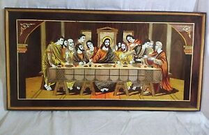 Image Is Loading Wall Hanging Christ Last Supper Panel Wooden