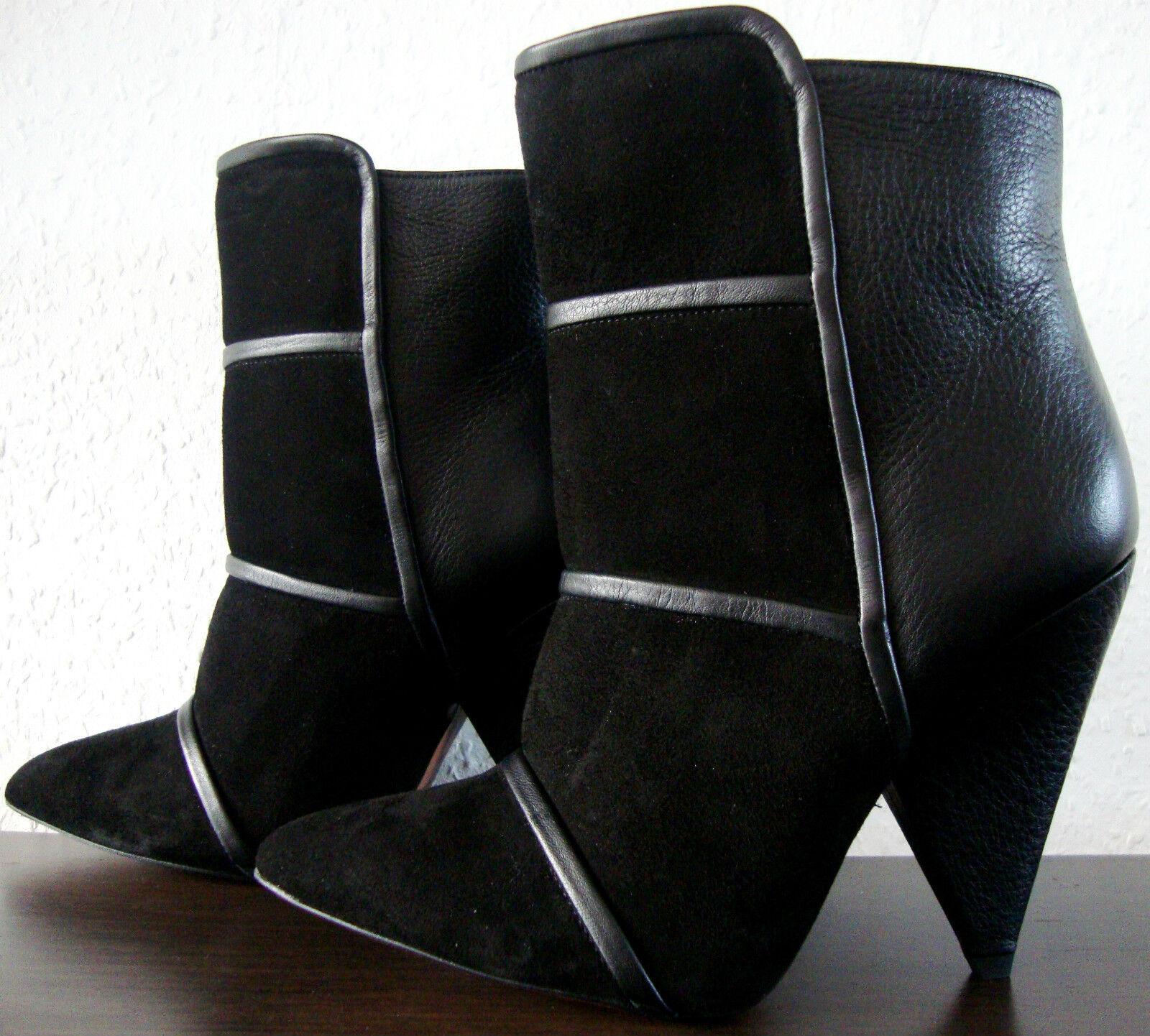 IRO Bottines En Cuir Bottines montante Designer Chaussures montante Bottines Black taille 36 NEUF c6c6f8