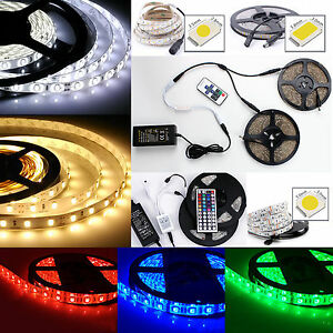 1m 10m bande ruban led strip flexible rgb 3528 5050 5630 smd etanche kit tanche ebay. Black Bedroom Furniture Sets. Home Design Ideas