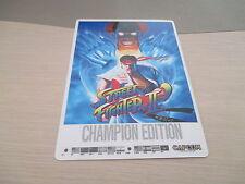 STREET FIGHTER 2 II' CHAMPION ED CAPCOM ARCADE PCB SHITAJIKI PENCIL BOARD!