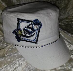 Tampa Bay Rays Womens Cadet Rhinestone Bling MLB Baseball Cap Hat ... 534ae097921c